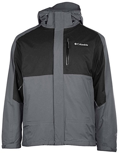 Columbia Men's Rural Mountain II Interchange Jacket-Gray/Black Colorblock-Small