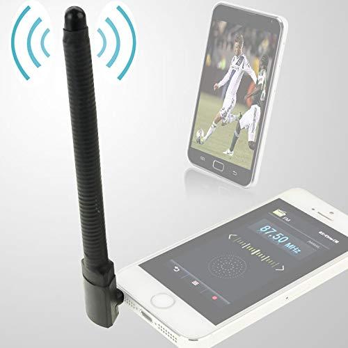 JINYANG Antenna 6dBi 3.5mm Bending Style Mobile FM /& TV Antenna Black