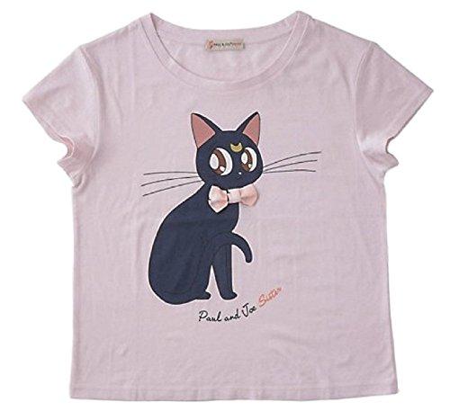 GK-O Sailor Moon Luna Cat Print T-Shirt with