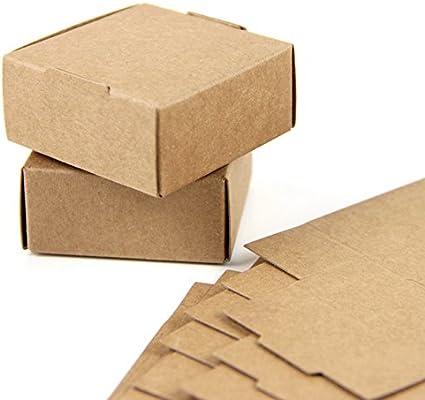 SUNBEAUTY Cajas Kraft marrón de la regalos, Cajas de Papel Kraft ...