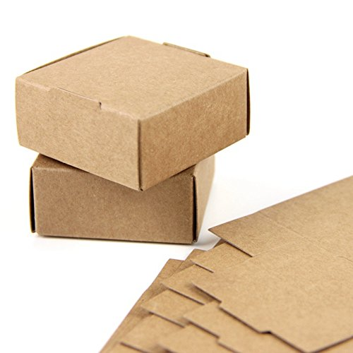 Amazon.com : Lavenz 50pc Cardboard Mini Box SIZE 5.5cmx5.5cmx2.5cm DIY Kraft Paper Box Soap Box Jewelry Packing Gift Box : Office Products