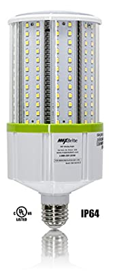 30W LED CORN LIGHT BULB 5000K Replaces 300W, 3,450 lumens Medium Base E26, 100-277V AC UL/cUL Listed