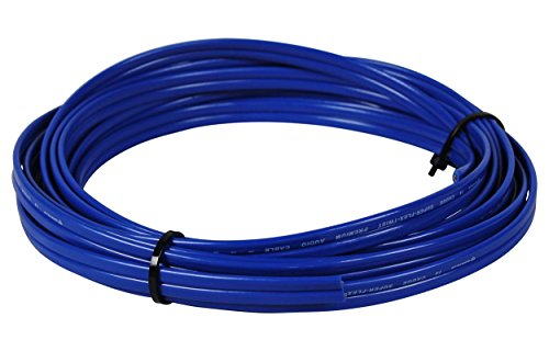 Rockville R14G50MS-BL 50 Foot Spool Marine Waterproof 14 AWG Speaker Wire