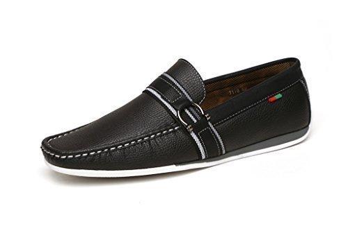 Nuevo Slip Para Hombre En Casual Zapatos De Conducción Mocasines Negro Estilo Italiano Mocasines UK Size - hombre, Negro Grano, 42 EU: Amazon.es: Zapatos y ...