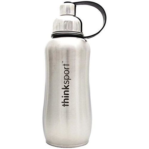 Thinksport Stainless Steel Sports Bottle, Silver (17 ounce) (Best Quality Drinking Water)