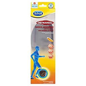 Scholl Orthaheel Orthotic Insole Pain Relief and Support Shock Absorber, Small