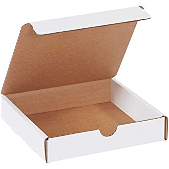 100-6 1//2 x 3 1//4 x 1 1//4 White Corrugated Shipping Mailer Packing Box Boxes