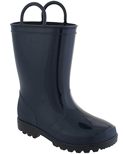 Girls Capelli Solid Jelly Rain Boots 1/2, Navy