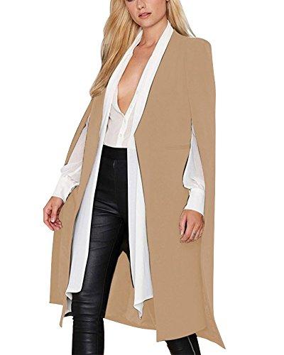 Khaki Trench PengGeng Coat Section No Women Cloak Jackets Shawl Buckle Long Windbreakers PPAxfpwq1U