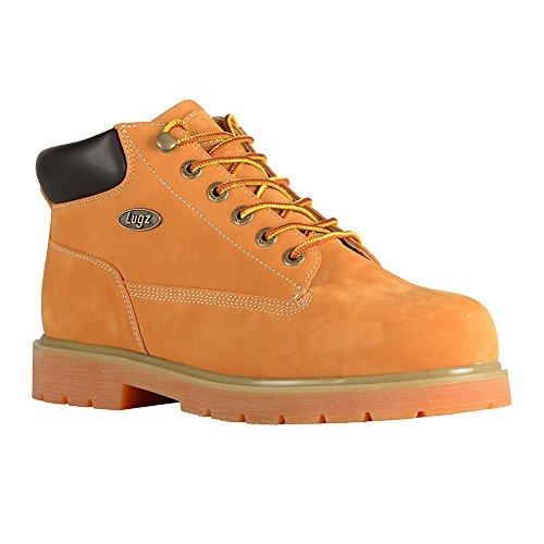 Lugz Men's Drifter Mid Steel Toe Fashion Boot, Golden Wheat/Bark/Tan/Gum, 12 W US