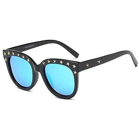 be26d77018 Aoligei Machos y Hembras polarizados Gafas de Sol Brillantes de Color  Grandes Estrellas Las Gafas de Sol Gafas de Sol: Amazon.es: Jardín