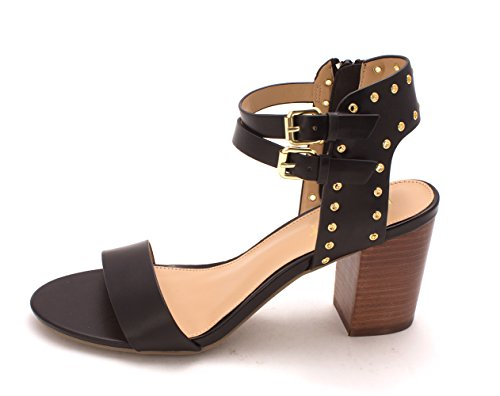 Report Womens Phoebe Open Toe Casual Ankle Strap Sandals, Black, Size 7.5 ()
