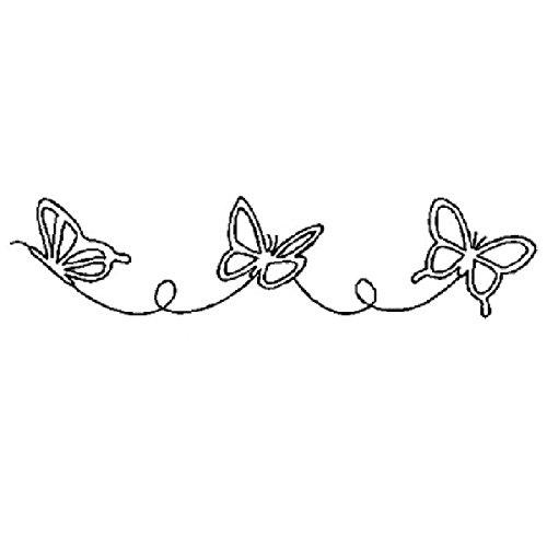 Large Butterfly Border Quilting Stencil (Border Quilting Sewing)