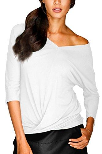 Ladies 3/4 Sleeve V-neck Tee - 8