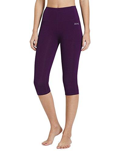 3467ad8b854 Baleaf Women s Tummy Control Capris Leggings High Waist Yoga Activewear  Workout Inner Pocket
