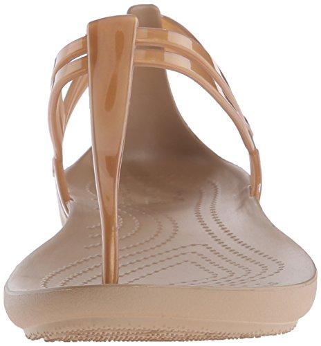 Or T Bronze Femme Strap Bout Sandales Ouvert Isabella Crocs 05qO8