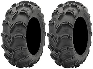 Full set of ITP Mud Lite II 4 6ply 27x9-12 and 27x11-12 ATV Tires