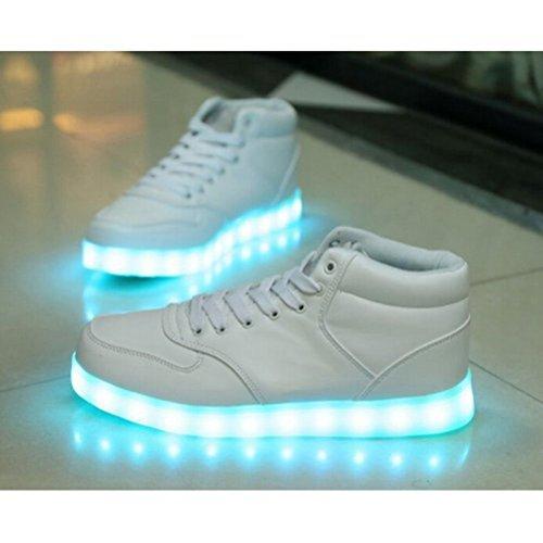 [+Kleines Handtuch]Kinderschuhe USB Lade Licht Jungen emittierende Schuhmädchenschuh leuchtende LED beleuchtete Sportschuhe großer Junge Sc c22