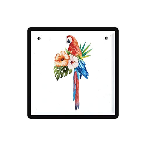 YOMIA Retro Vintage Tin Signs Painted Poster Metal Signs Wall Art Metal Poster Plaque Office Hobby Shop Pub Collector -Cute Parrot Parakeet