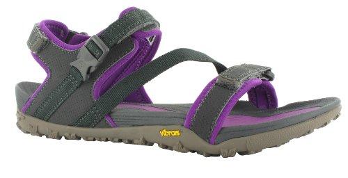 Hi-Tec AURORA - Sandalias deportivas de material sintético para mujer Gris (Charcoal/Purple)