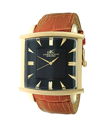 Mens Swiss Two Layer Classic Design by Adee Kaye-Gold Tone/Black ()