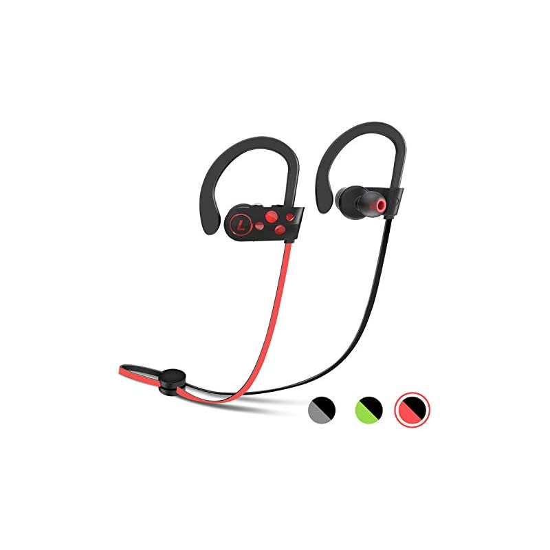 Wireless Headphones, Letsfit Sports Bluetooth Headphones Earphones Earbud with Mic Wireless Headset, Waterproof Sweatproof HD Stereo Earbuds for Running Gym Noise Cancelling 8 Hours Work Time