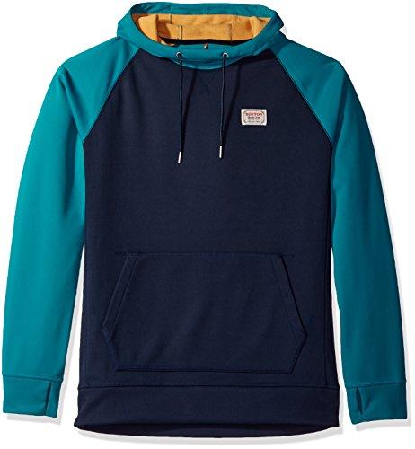 Burton Crown Bonded Pullover Hoodie, Eclipse/Fanfare, Large - Burton Bonded Zip Hoodie