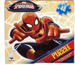 Kids Boys Hot SELLER Spiderman 48 Piece Jigsaw Puzzle in a square Box