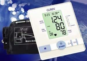 Gurin Upper Arm Automatic Digital Blood pressure Monitor BPM-110 with EasyFit Cuff