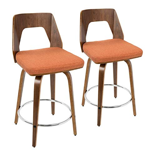17 in. Mid-century modern Counter Stool - Set of 2