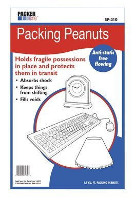 WHITE PACKING PEANUTS 1.5CU FT by Packer One by Packer One