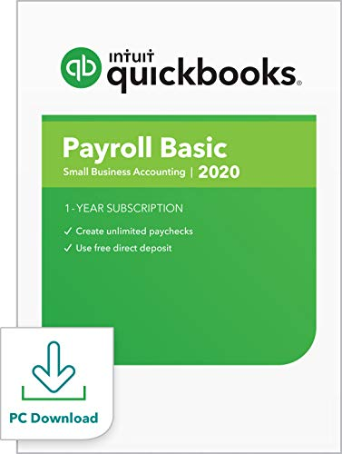 QuickBooks Desktop Basic Payroll 2020 I Compatible with QuickBooks Pro, Premier, and Enterprise [PC Download]