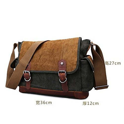 Penao Funda lona messenger bolso vintage de hombro bag Grey colores hombre 36cmx12cmx27cm siete de algodón rrZdw