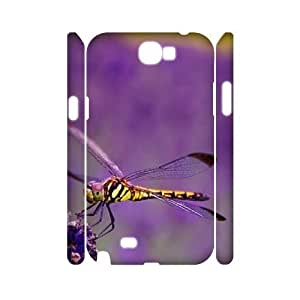 Beautiful Dragonfly Custom 3D Cover Case for Samsung Galaxy Note 2 N7100,diy phone case ygtg-310349