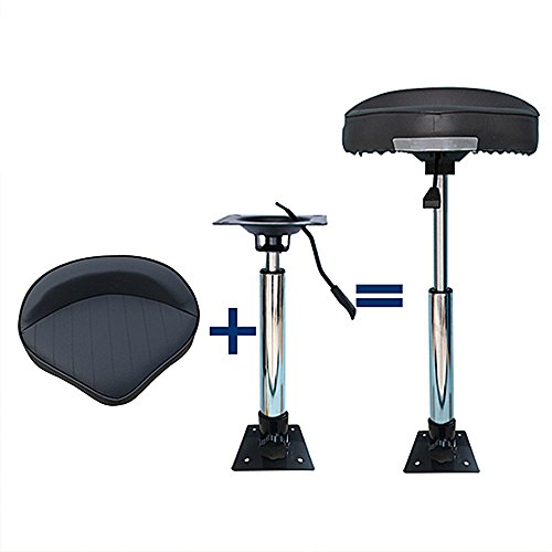 360°Swivel Boat Seat with Adjustable Height Power Pedestal Seat Mount 22