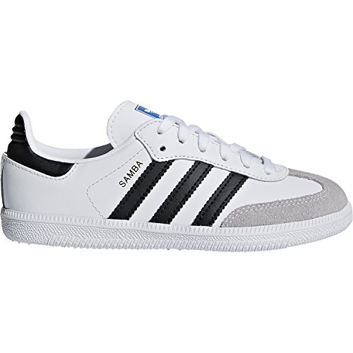 adidas Originals Samba OG C White/Black Leather 2 M US Little Kid (Adidas Samba Trainer)