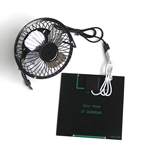Soulitem Ventilador Solar de 3 W Mini Ventilador port/átil con Cargador Solar para tel/éfono para Exteriores