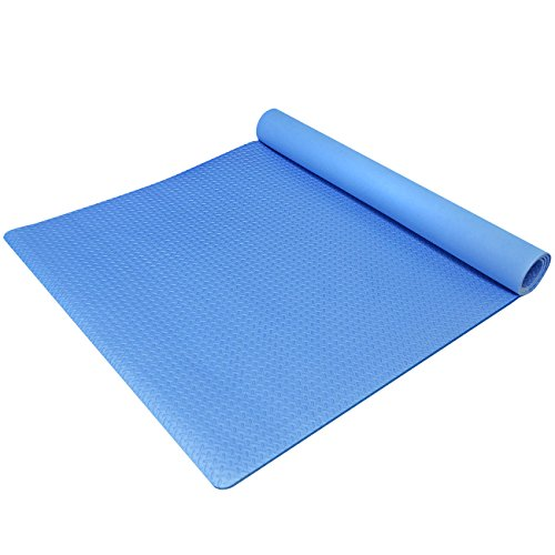 Sivan Health and Fitness Anti-Fatigue Grip Mat Roll - Exercise Mat EVA Foam (Blue)