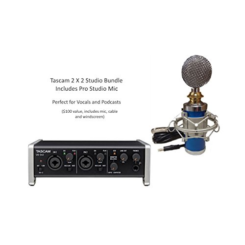 Tascam US-2x2 2-in/2-out Audio/MIDI Interface with Pro