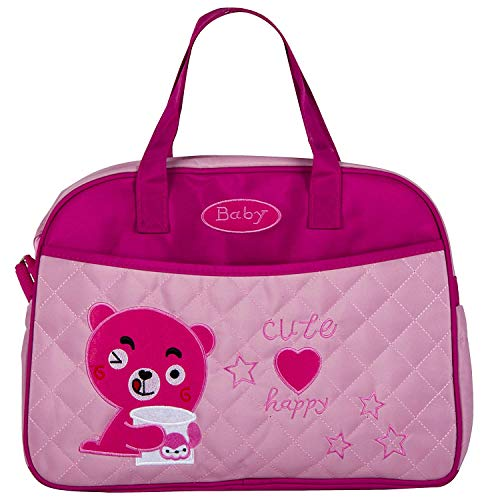 Babysafehouse Baby Diaper/Nappy Changing Bag for Mothers  Pink