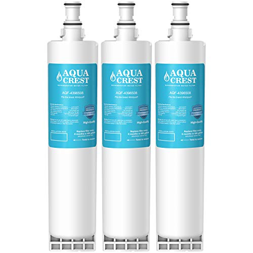 AQUACREST Refrigerator Water Filter, Compatible with 4396508 4396510, Filter 5, 46-9010, PUR W10186668, NLC240V (Pack of 3)