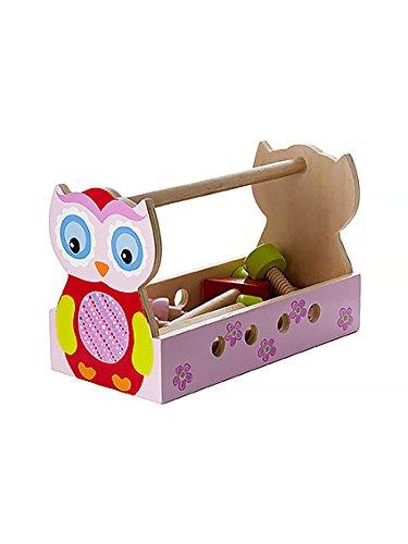 jeu d 39 imitation bricolage en bois bo te outils jouet enfant cadeau de hibou eule chouette pour. Black Bedroom Furniture Sets. Home Design Ideas