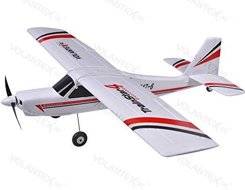 [2.4Ghz Radio Remote Control Trainstar Exchange Airplane 3Ch & 4Ch RTF w/ EPO High Crash Resistance + Brushless Setup] (Park Flyers Cessna 182)