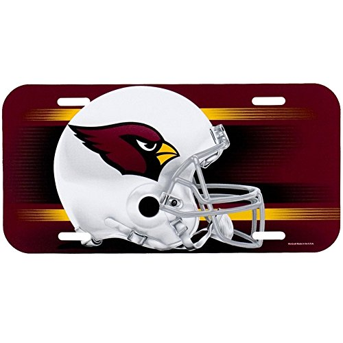 - WinCraft NFL Arizona Cardinals License Plate, Team Color, One Size
