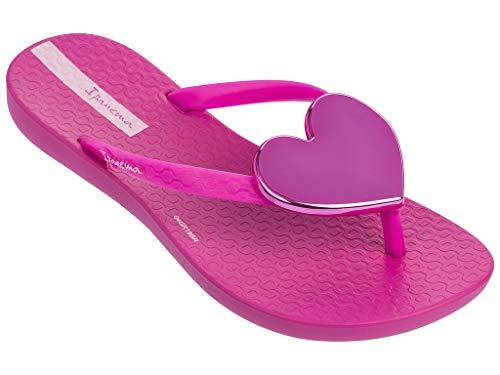 Ipanema Wave Heart Kids' Flip Flops, Pink/Pink (11/12 US) -