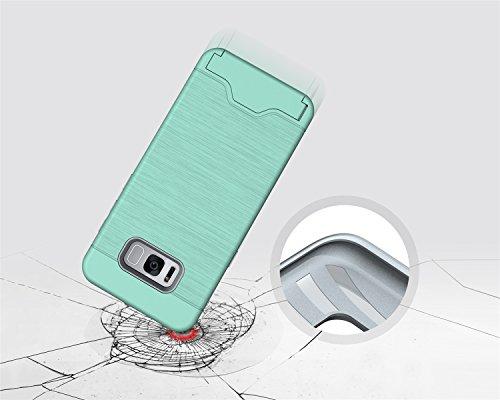 SRY-Funda móvil Samsung Para la caja de parachoques de la galaxia S8 Plus de Samsung, anti-vibración detrás con la ranura para tarjeta cubierta protectora fresca de la contraportada de la cubierta ( C Green
