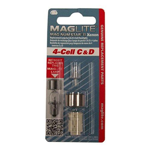 Maglite Lmxa401 Magnum Star Ii Xenon 4-cell C & D Bulb Genuine Mag ()