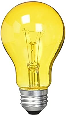 Westinghouse 0344300, 25 Watt, 120 Volt Trans Amber Incandescent A19 Light Bulb - 2500 Hours