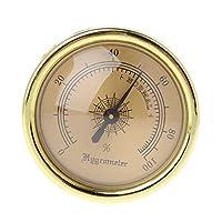 HOWWOH Cigar Smoking Measure Hygrometer Humidity Moisturizing 45mm Round Gold Measuring
