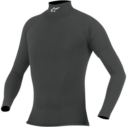Alpinestars Tech Base Underwear (Alpinestars Summer Tech Performance Long Sleeve Underwear Top (BLACK))